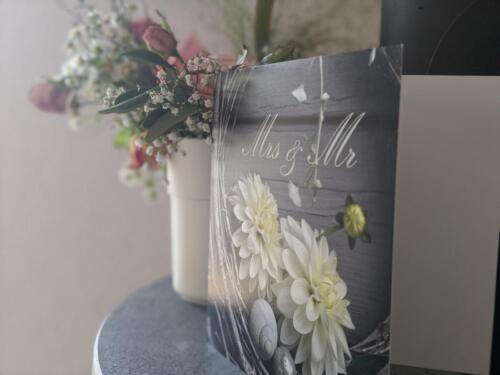 Hochzeitskarte (mit Perlmutt-Effekt)