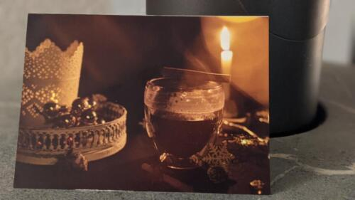 Glühwein-Karte mit dezengem Weihnachtsduft im Format A6